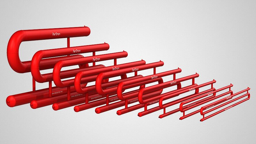 Трёхрядные змеевиковые регистры отопления из гладких труб всех стандартных диаметров — от 42 до 219 мм