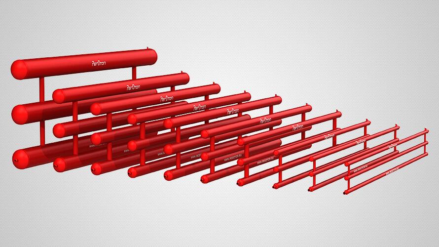 Секционные трёхрядные регистры отопления из стальных труб всех стандартных диаметров — от 42 до 219 мм